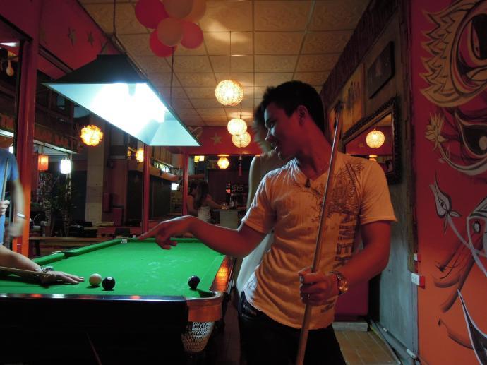 Wieczór w barze Orion, Chiang Mai, fot. A. Mielczarek
