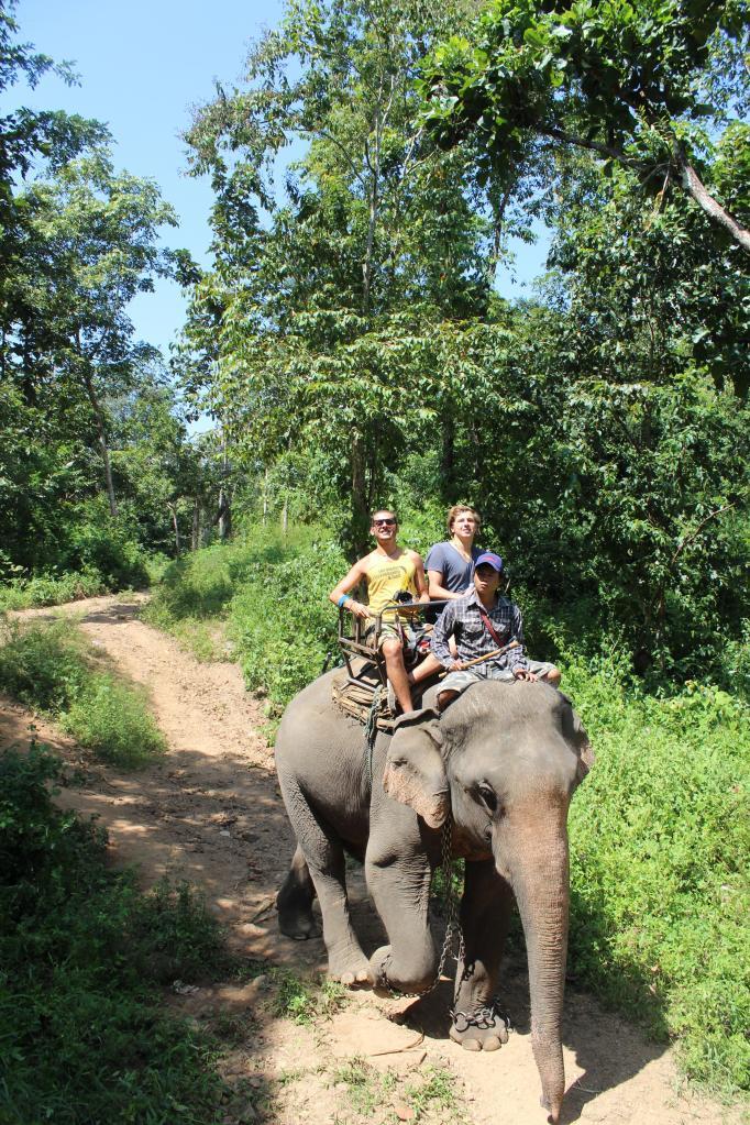 Jazda na słoniu, fot. L. Ekwers