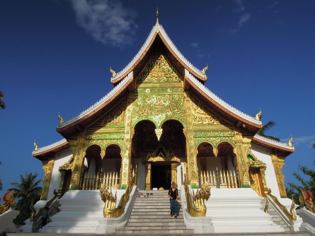Świątynia Wat Ho Pha Bang w obrębie kompleksu pałacowego, odrestaurowywana na przyjęcie posążka Phabang, fot. M. Lehrmann