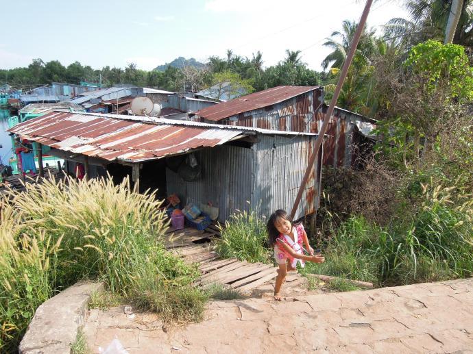 Witają nas dzieci, Delta Mekongu, fot. A. Mielczarek