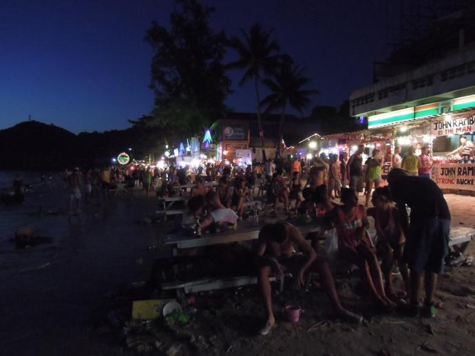 Impeza na plaży, Full Moon Party, Koh Phangan, fot. A. Mielczarek