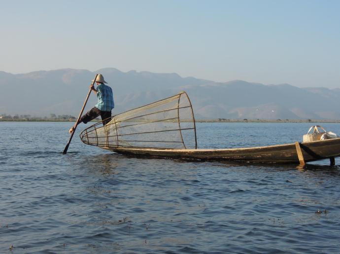 Rybak, Jezioro Inle, Birma, fot. M. Lehrmann