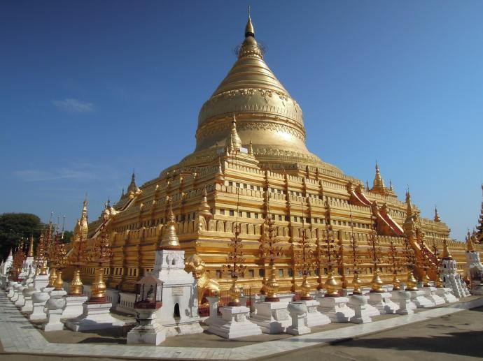 Majestatyczna Shwe Zigon Pagoda, zbudowana przez króla Anawrathę w XI w., fot. M. Lehrmann
