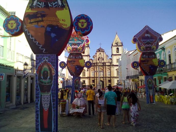 Dekoracje karnawałowe, Pelourinho, Salvador, fot. M. Lehrmann
