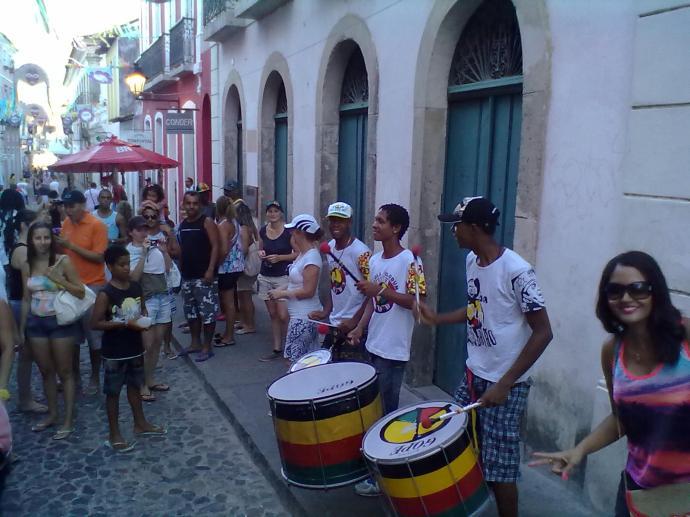 Bębniarze, Pelourinho, Salvador, fot. M. Lehrmann