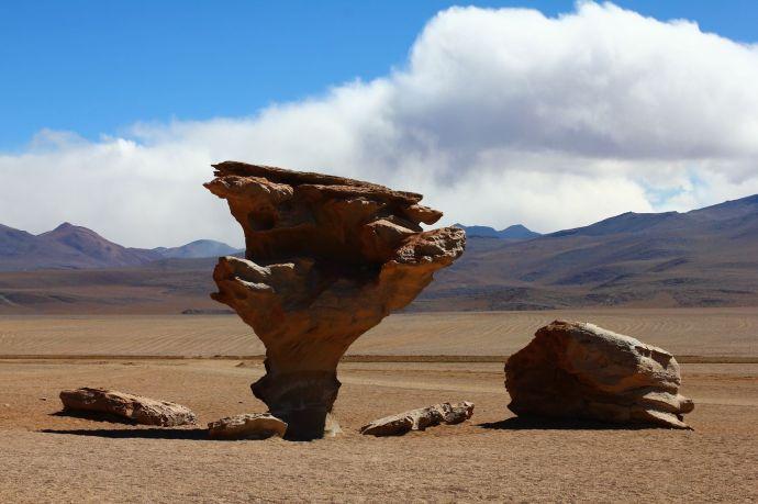 Niepowtarzalne formacje skalne, Altiplano, Boliwia,  fot. O'n'G