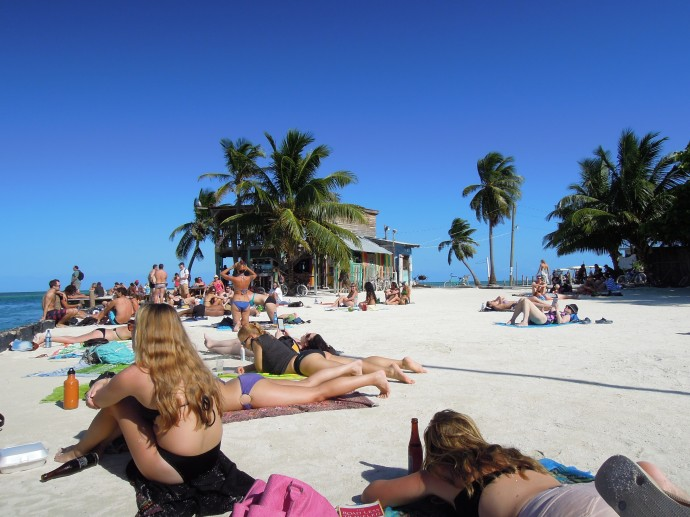 Plażowanie wokół Splitu, Caye Caulker, Belize, fot. M. Lehrmann