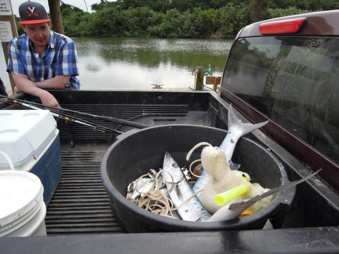 Nie ma to jak samemu złowić barakudę na kolację, Hopkins, Belize, fot. M. Lehrmann