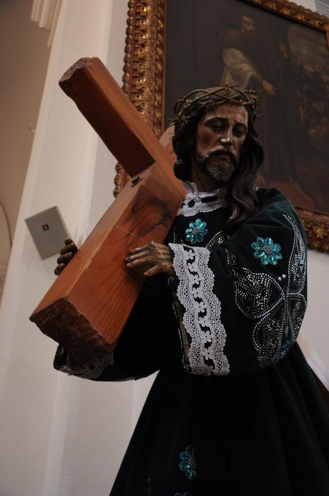 Barokowy Jezus, Kościół La Merced, Antigua, Gwatemala, fot. Ula Kupińska
