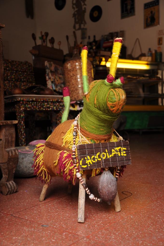 Stojąca reklama, Antigua, Gwatemala, fot. Ula Kupińska