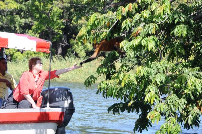 Małpie figle, Isla de Los Monos, Jezioro Nikaragua, fot. Ula Kupińska