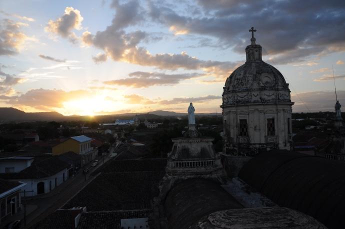 Widok z wieży kościoła La Merced, Granada, Nikaragua, fot. Ula Kupińska