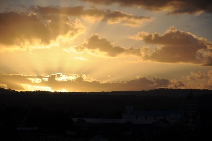 Zachód słońca, Granada, Nikaragua, fot. Ula Kupińska