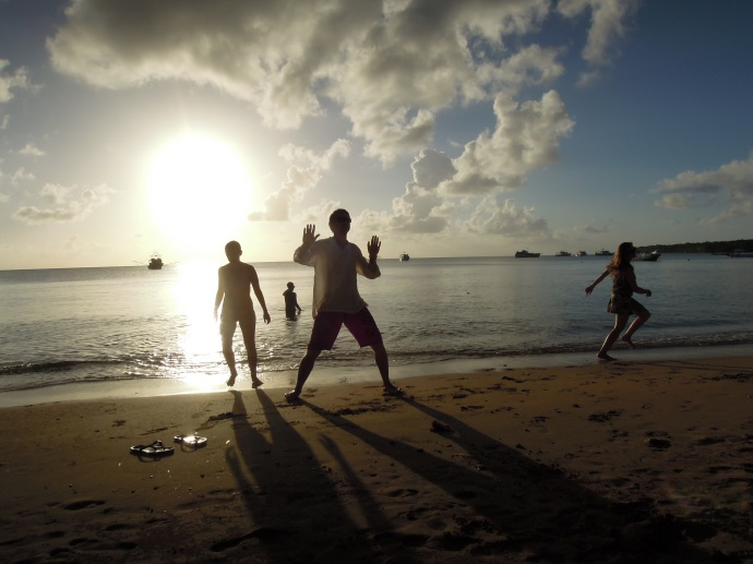 Dziki taniec radości, Little Corn Island , fot. A. Mielczarek