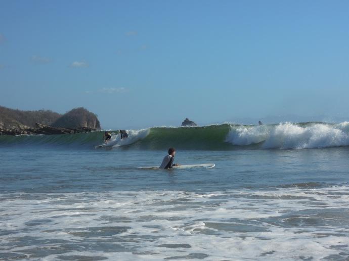 Polowanie na fale, Playa Maderas, Nikaragua, fot. M. Lehrmann