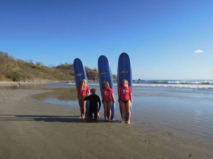 Szkółka surfingowa, Playa Maderas, Nikaragua, fot. M. Lehrmann