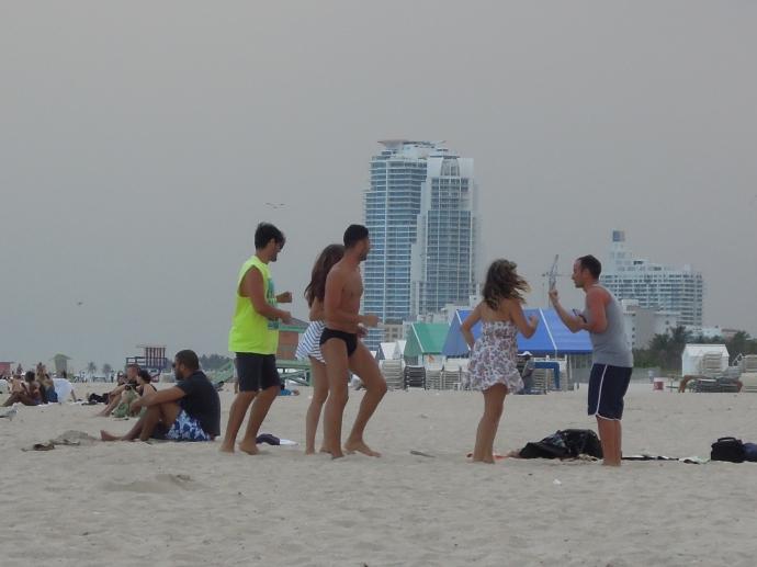 Spontaniczna lekcja tańca, Miami Beach, fot. M. Lehrmann