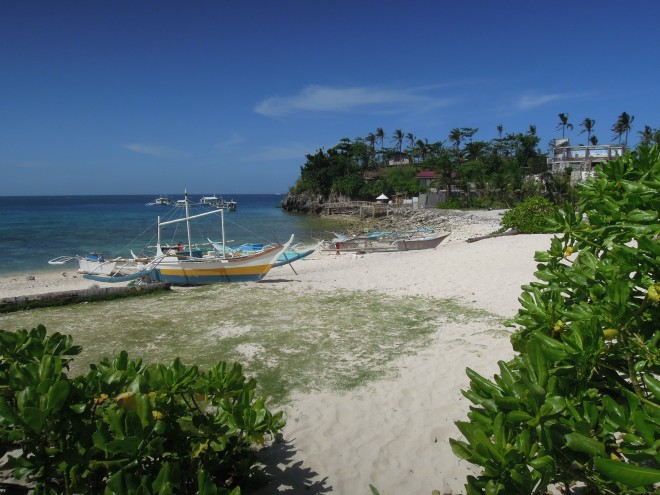 Łodzie w zatoce, Malapascua, Filipiny, fot. M. Lehrmann