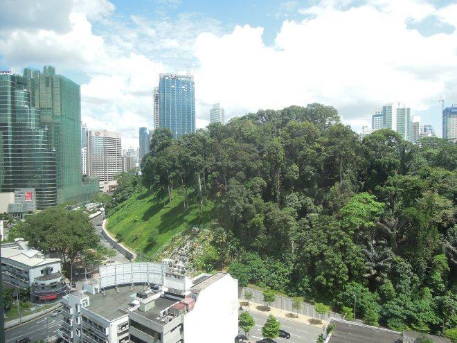 Tropikalna roślinność w środku miasta, Kuala Lumpur, Malezja, fot. M. Lehrmann