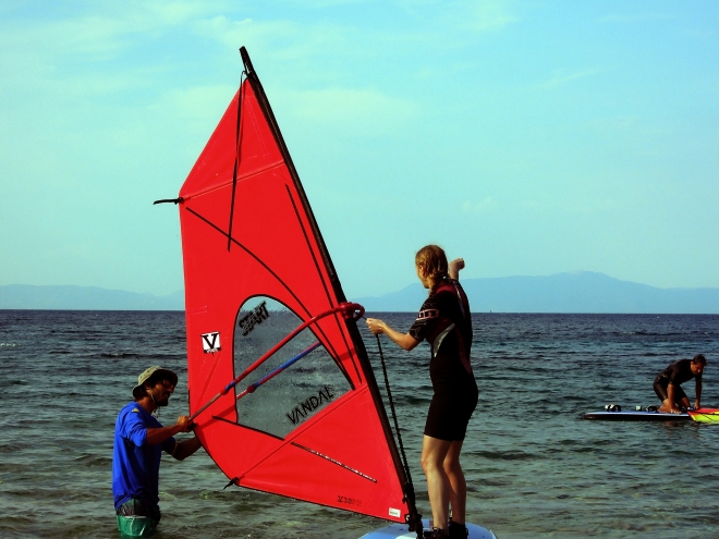 Adept winsurfingu, Kokkari, Samos, fot. M. Lehrmann