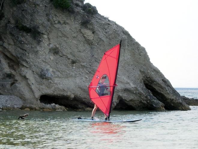 Udało się, szkoła windsurfingu, Kokkari, Samos, M. Lehrmann