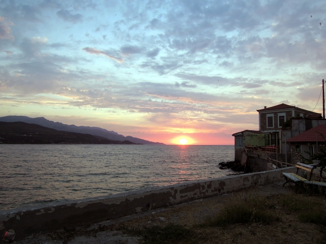 Zachód słońca nad Morzem Egejskim, Vathi, Samos, fot. A. Mielczarek