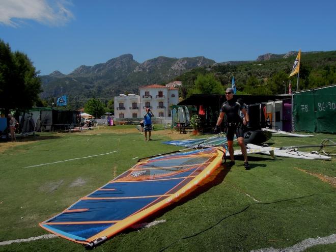 Szkoła windsurfingu, Kokkari, Samos, fot. A. Mielczarek