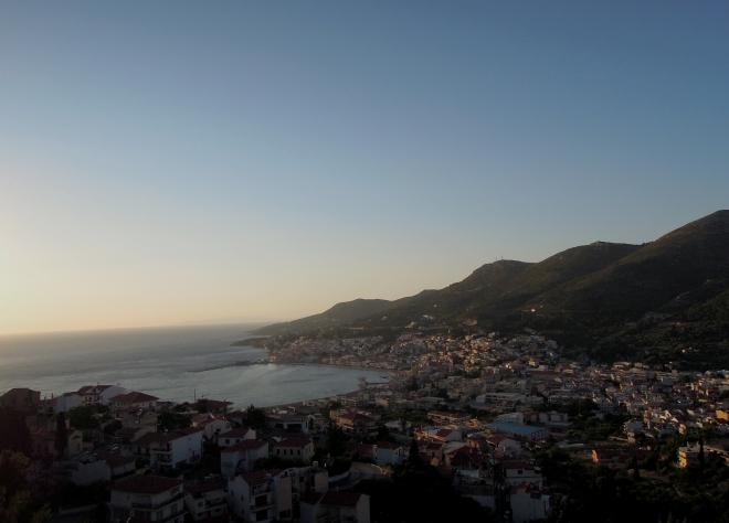 Panorama stołecznego Vathi, Samos, fot. A. Mielczarek