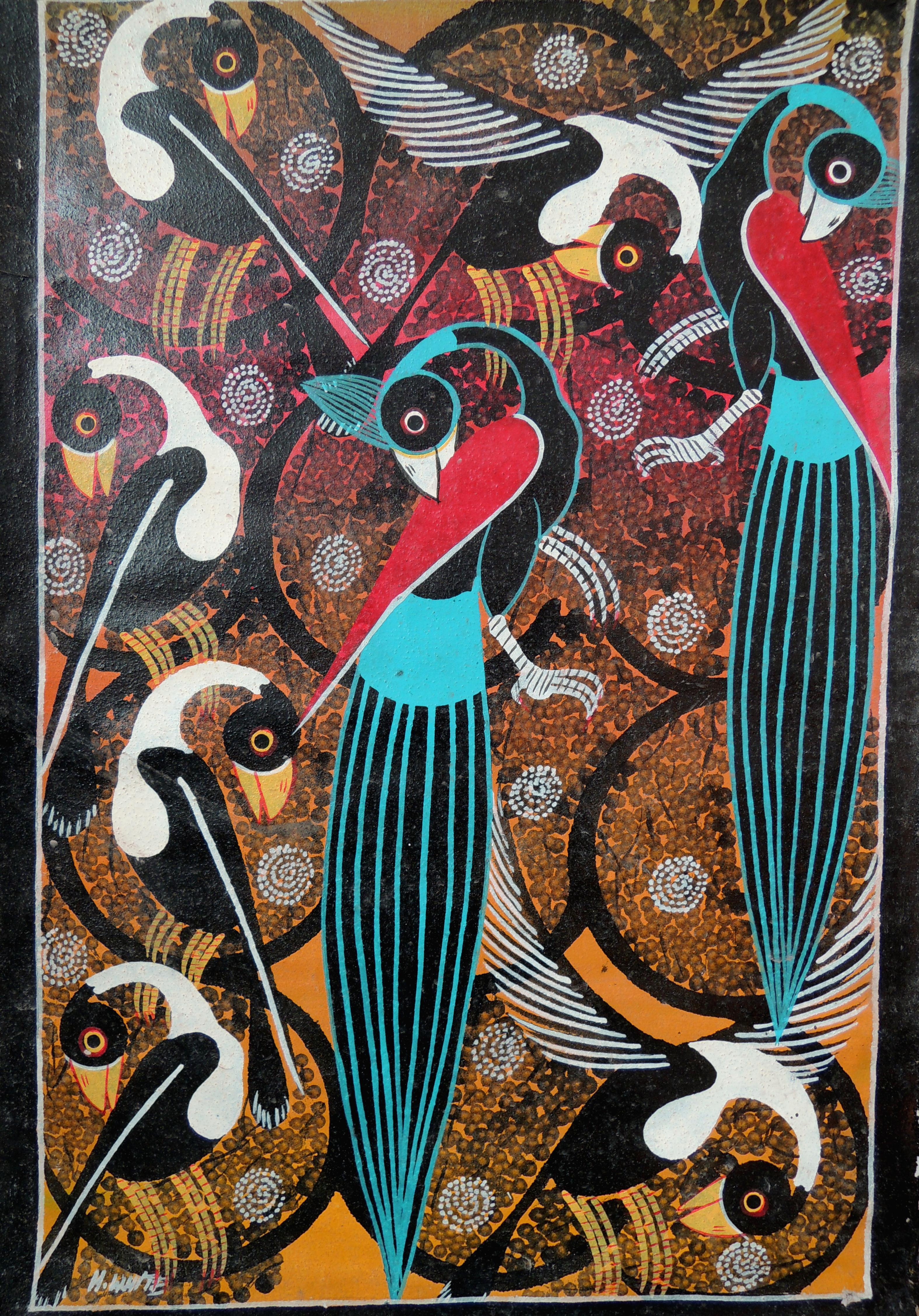 Przykład malarstwa w stylu TIngatinga, dominującego w lokalnych sklepach ze sztuką, Stown Town, Zanzibar, fot. M. Lehrmann